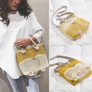 NoEnName-Null-Frauen-Einkaufsnetz Schultertasche Handtasche Strandtasche Strandtasche Aufbewahrungstasche