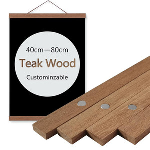Customize Solid Wood Scrolls no Canvas Teak Wood frame for Wall Art Poster and Hanging painting For Living Room Decor