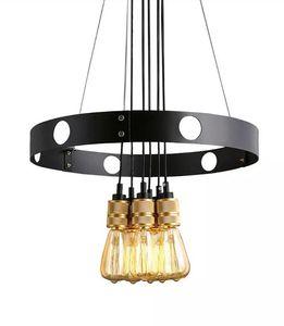 cgjxs Нового Эдисон лампа Люстра, Железный Круг, Creative Люстра, ретро ресторан Люстра Llfa