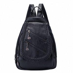 Senhora selvagem FGGS-Fashion Shoulder Bag Grande Capacidade Casual Personalidade Saco pequeno fresco Backpack R4eB #
