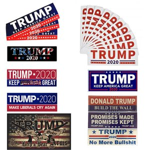 10 Styles Donald Trump 2020 Car Stickers 7.6*22.9cm Bumper wall Sticker Keep Make America Great Decal for Car Styling Vehicle Paster DHF122