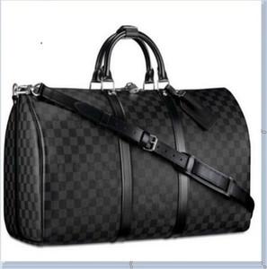 Uomo Sport Gym Bag PU Training Pelle Borsa a tracolla Duffle Borse Scarpe Sneakers indipendenti Pocket bagagli borse fitness Travel Bag