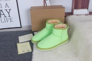 Australia BootsUGGsUGGHot Sale Australian Women Schnee-Boost WGG Frauen Stiefel 100% echtem Rindsleder Luminous Ankle Bo CXZ