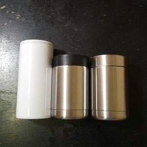 12 once tazza può dispositivo di raffreddamento bicchiere birra macchina tazza cola 18/8 acciaio inox sostegno isolante 3 versioni acciaio e coperchi di plastica facoltativo per 350ml