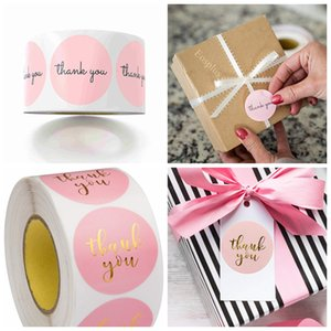 Pink Thank You Stickers Pink Stickers for Company Giveaway & Birthday Party Favors Labels & Mailing Supplies & Office Label 1in