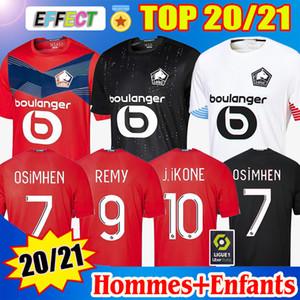 2020 2021 Losc Lille Soccer Jerseys David Fonte Bamba Yazici Football Shirt 20 21 Lille Olympique Jikone 10 # Mailleot Hommes Enfants Kids Kit