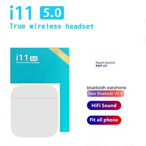 2020 NEW i11 TWS Bluetooth Earphone Mini Wireless earphones Stereo with Mic Cordless Earbuds Handsfree for smart phone