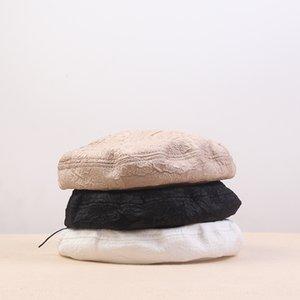 zdreM Bereliler kadın Painter sekizgen yaz ince nefes sekizgen şapka gündelik pileli dantel ressam şapka moda hepsi maç beret