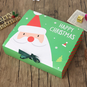 عشية عيد الميلاد الكبيرة علبة هدية بابا نويل الجنية تصميم كرافت Papercard الحزب الحالي صالح آخر مربع أحمر أخضر هدايا حزمة صناديق BC BH4066