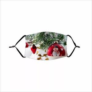 Cadılar Bayramı Kabak sızmasına Palyaço Kafatası Maskeler Noel Noel Baba Noel Geyik Noel Ağacı Filtre 100pcs ile Karikatür toz geçirmez Maske