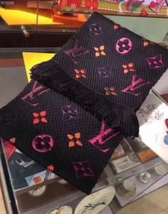 New 2020 Fashion Winter-Logomania SHINE Schal Luxus Damen und Herren Zwei Seiten Schwarz Rot Silk Wolldecke Schals Designer Schals und Tücher
