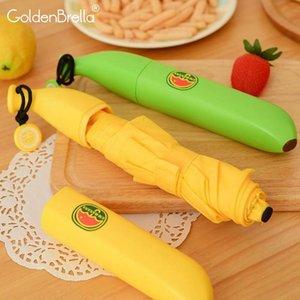 Novità 5folding For Kids Banana ombrello Boy Marca Mini regalo o una ragazza pioggia delle donne come i bambini Ombrello Forma Studente compleanno Ouppo yh_pack