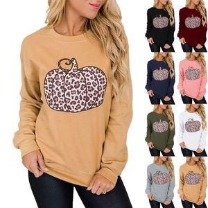2020 New Autumn Women's Hoodies & Sweatshirts Plus size Halloween hot sale hot style women's Pumpkin print round neck long sleeve pullover