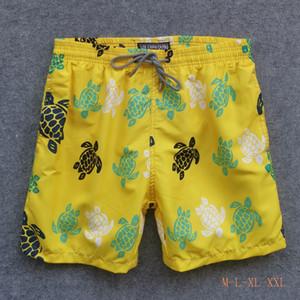 mens verão nadar curto Vilebrequin roupas bermuda praia tartarugas Mais recente verão calções casuais Moda Estilo Mens Shorts