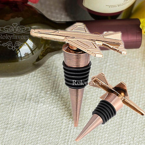 50PCS Antique Bronze Airplane Bottle Stopper Travel Destination Adventure Wedding Favors Event Keepsakes Engagement Giveaways Birthday Gifts