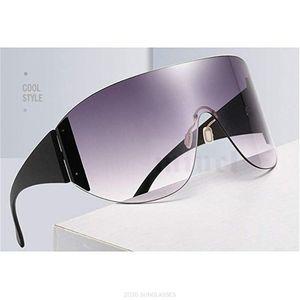 Sunglasses Fashion Women Men Brand Design Goggle Sun Glasses Big Frame Shield Visor Windproof FML