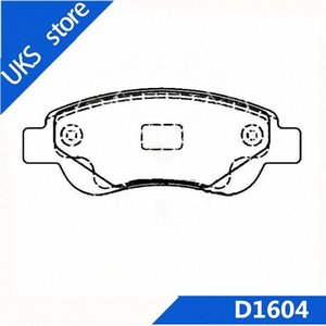 4piece set Car Brake Pads Rear D1604 FOR BYD F0 4lNG#