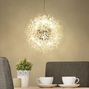 LED creativa Dandelion lampadario di cristallo di illuminazione Hanging rotonda moderna ciondolo luce 8 9 12 16 luci per la decorazione in camera