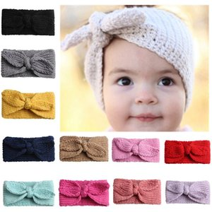 baby Headbands Hairbands Hair Bow Elastics for Baby Girls Newborn Ears Warmer Baby Headband Accessories Knit Crochet Headbands KKA8088