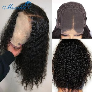 Dantel Kapatma Peruk 30 İnç Peruk İnsan Saç Dantel Peruk Preplucked moxika 180 4x4 Remy Tutkalsız Perulu Saç Peruk Kıvırcık