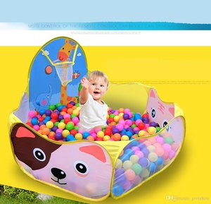 Cartoon giraffe Baby Funny Play Tent Colored Balls toys Giraffe Children Kid Cartoon Cast Ocean Ball Basketball Pool Play House Tent Toy