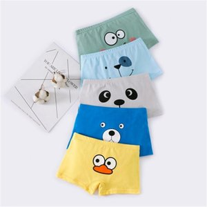 Summer new hot-selling children's boxer shorts cartoon printed boy's underwear 1 box of 5 good quality