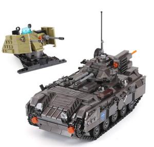 XingBao 06018 1049Pcs Genuine Military Series The Armoured Vehicle Set Building Blocks Bricks Educational Toys Model to Children