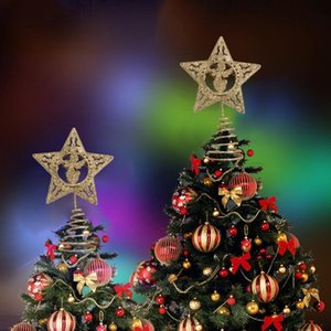 3Pcs Tree Toppers Lovely Creative Tree Topper Stars Table Decorations for Christmas