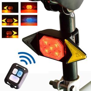 NEWBOLER Велосипед Turn Signal Велоспорт Taillight USB перезаряжаемые СИД велосипеда заднего света Пульт дистанционного управления беспроводной велосипедов Tail Light
