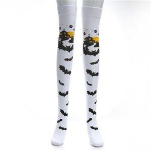 Performance Costume Props Women Printing Socks Designer Trend Female Stockings Ladies Halloween Stockings Fashion Masquerade Festival