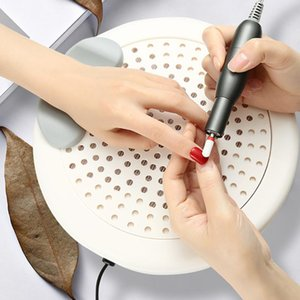 Electric Nail Dust Collector Low Noise Powerful Nail Vacuum Dust Extractor Suction Fan Machine Round White Filter