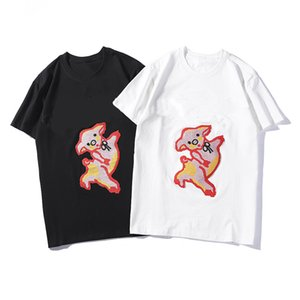 Women's T-shirts In Summer of 2019 New Fashion Printed Short-sleeved T-shirts for Men and Women in Europe and America