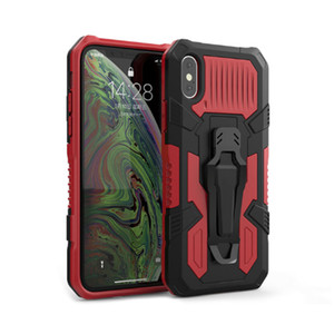Protective Case For iPhone 12 11 Pro Max XR XS X 7 8 6S Plus 7Plus SE 2020 With Armor With Belt Clip Jacket Sit Stand Holder Hard Covers