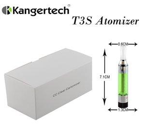 Kanger T3S serbatoio 3ml 2.4-2.6ohm Non perde Cartuccia vaporizzatore cartuccia del carro armato Kanger serbatoio Compatiable con la serie eGo-510 di trasporto del DHL