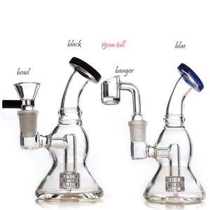 tuyau brûleur à mazout en verre de 14 mm d'épaisseur quartz banger bongs d'eau en verre fumeur tuyau d'eau en verre dab capiteux plate-forme de tambour Perc