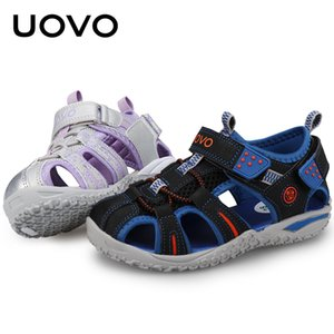 UOVO Kids Shoes 2020 New Style Summer Boy Closed-toe Sports Sandals Child Shoes Sandals for Girl Kids