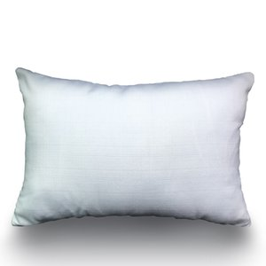 100% Polyester 12x18 blank Pillow Case Pure White Plain Poly-Linen Throw Pillow Cover Lumbar Cushion Case for DIY Sublimation