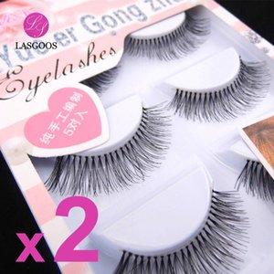 LASGOOS 10 Pairs Pretty Lady Natural Looking 8 10 12mm False Eyelashes Long Handmade Fake Eye Lashes Extension Makeup Tools HW-7