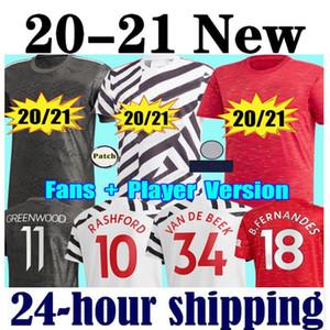 New 2020 FC manchester Rashford B. FERNANDES Pogba Fußball Jerseys KAMPFFußballJersey-Hemd vereinigt UTD 20 21 Uniformen Mann + Kinder-Kit