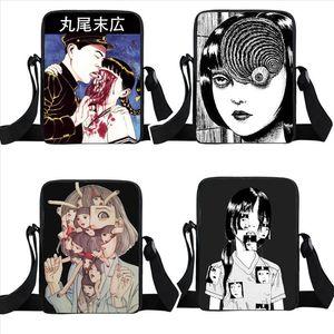 horror manga crossbody bag women handbag Junji Itou Shintaro Kago men shoulder bag teenager boys girls mini messenger bags