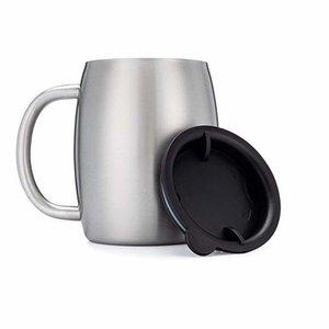 손잡이를 가진 스테인리스 커피 맥주 잔이나 유출 방지 뚜껑 14 온스 이중 벽으로 둘러싸인 절연 커피 맥주 차 머그컵 텀블러