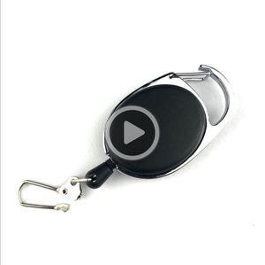 Nouveau télescopique réglable Creative Keychain Porte anti-perte Aati-vol Câble métallique extérieur EDC outil clés Spring Type