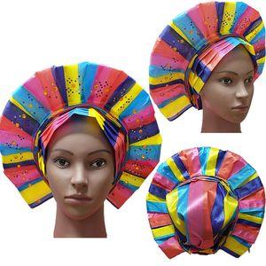 Multicolor splicing African Aso Oke sego Headtie High quality Nigerian Traditional wedding use 016 sego headtie