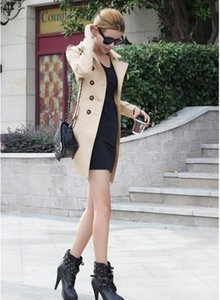 Double Breasted Adjustable Waist Long Trench Coat Womens Outerwear Clothing Women Designer Winter Coats Fashion00