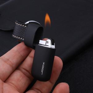 Compact Keychain Free Fire Torch Lighter New Flint Gas Isqueiro Mini bolso Pendant isqueiro rebolo Ignite Gadgets Homem Para