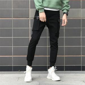 Luxury men's fashion street slim men's pants jogging pants youth leisure summer brand