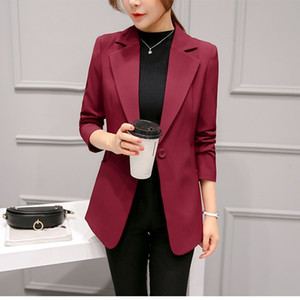 Women Blazers Spring and Autumn New Women's Casual Suit Slim-Fit Long-Sleeve Small Suit Jacket