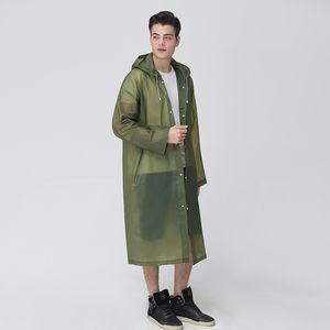 Fashion EVA Women Man kid Raincoat Thickened Waterproof Rain Poncho Coat Adult Clear Transparent Camping Hoodie Rainwear Suit 5.0Suit