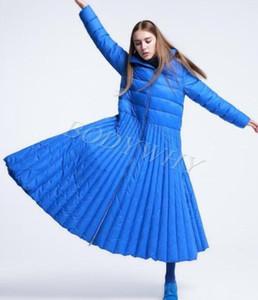 Womens Ladies Fashion Down Jacket Flared Long Coat Outwear Plus Size Skirt Dress Style Winter Down Coat Big66