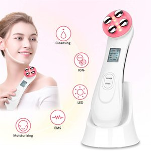 Facial Mesotherapy Electroporation RF Radio LED Photon Therapy Machine Face Lifting Massager Vibration Skin Rejuvenation Device